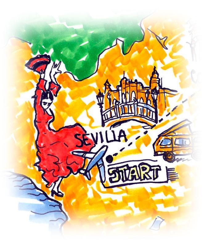 Siviglia - Itinerario di viaggio in Andalusia