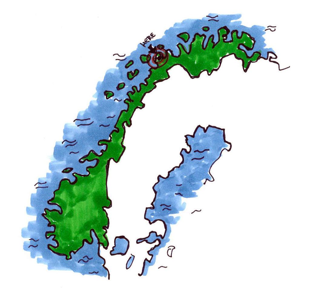 Mappa - Caccia all'Aurora Boreale in Norvegia
