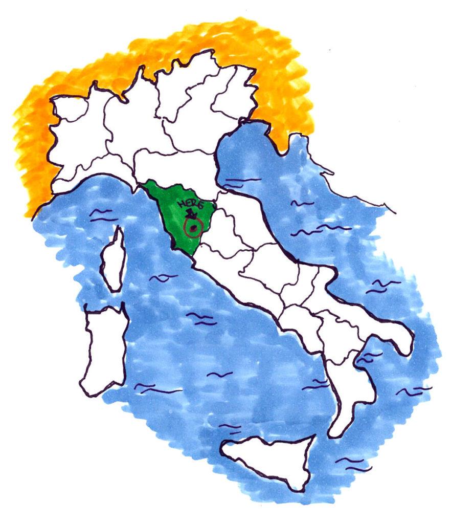 Mappa Italia regione Toscana