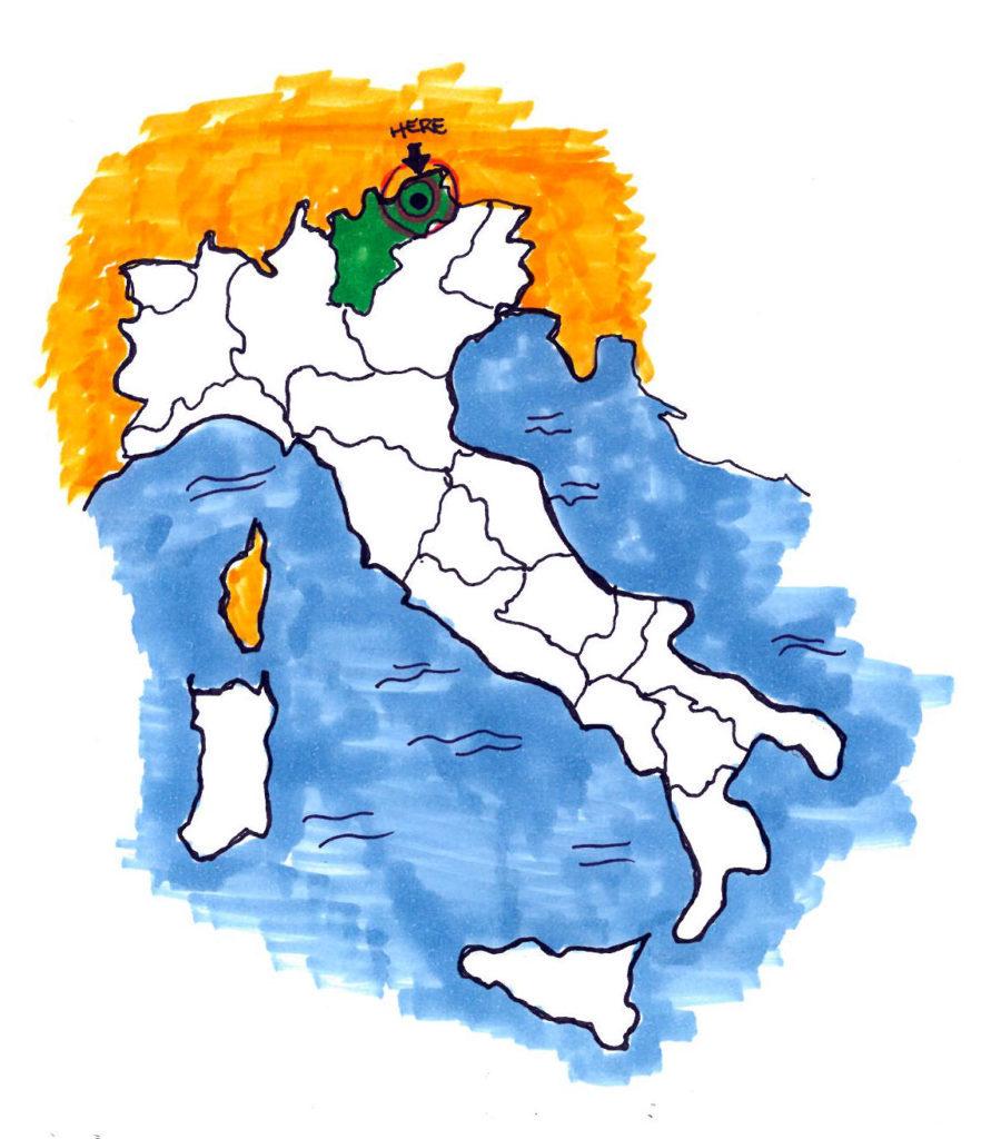 mappa italia trentino