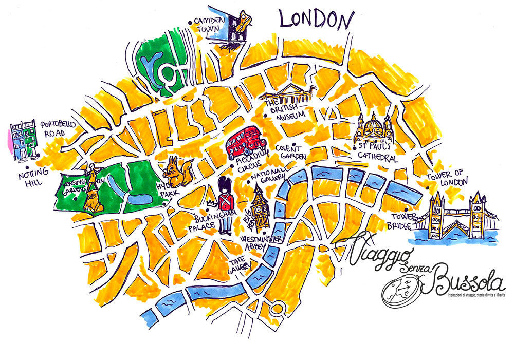 mappa - Cosa vedere a Londra - Viaggio Senza Bussola