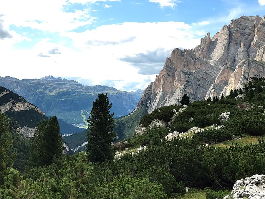 vista delle dolomiti Vacanze in Estate sulle Dolomiti