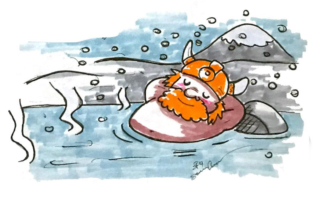 bagno in inverno islanda